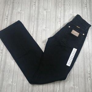 {T5} Wrangler Jeans NWT Black Straight Leg 1×34